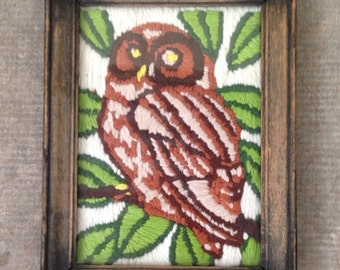 Owl Embroidery Wall Hanging