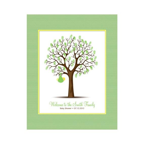 baby shower thumbprint tree keepsake guest book alternative baby