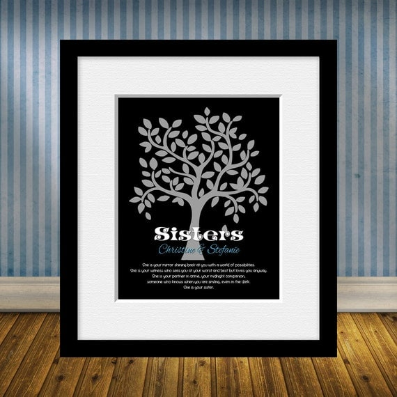 Sisters Gift. SISTER Wedding Gift Wall Art, Bridesmaid Gift, Maid of ...