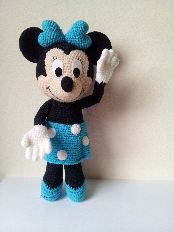 Crochet Minnie Mouse Doll : Minnie Mouse 9 Handmade crochet doll birthday gift