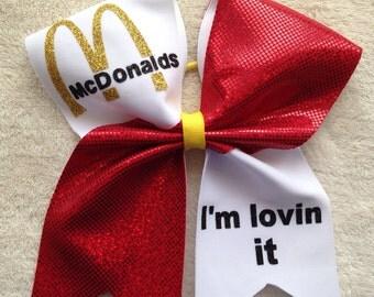 Cheer bow - I'm lovin it.