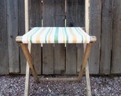 Vintage Shabby Primitive Recovered Camp Chair