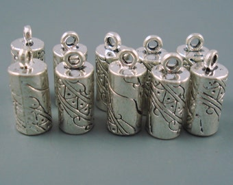 5MM End Cap, TEN Silver Caps for Leather or Cord (CAP5-003)