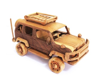 Wooden Toy Sport Utility Vehicle 02 in Handmade