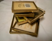 6 vintage mini gold frames,wedding,family,ancestors  ,school-shelf display-photo library-