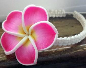Adjustable Pink Hawaiian Hibiscus Bracelet