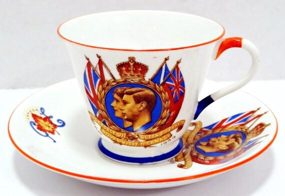 Vintage King George Vi 1939 Royal Visit To Canada Tea Cup