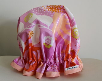 Shower Cap. Handmade.  PVC & BPA Free.  Girls And Adult Sizes. Cotton. Eco - Friendly. Gift For Her.