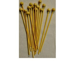 100 ct Wooden Lolli Pops Sticks With Ball