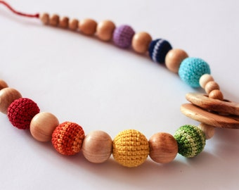 Nursing Necklace for Sling-Teething Babywearing Necklace for Mom
