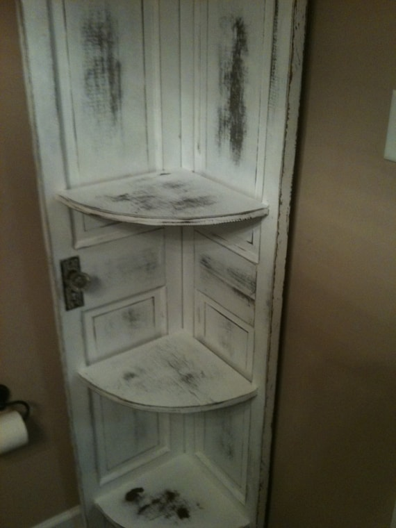 Corner cabinet made from old doors - Cabinet made from old doors ...