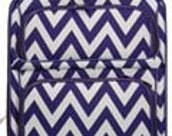 20in, 24in or 28in Carry on Luggage.  Chevron Print in Black, Pink, Purple, Lime and Teal.
