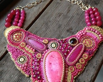 SOLD. Bead Embroidery Collar?