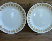 2 Corelle Butterfly Gold Dinner Plates Set of 2