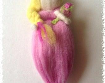Felted wool doll - Gretchen