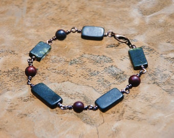 Vintage Marble Wire Wrapped Bracelet