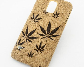 Cork Case Snap On Cover Skin For Galaxy S5 - Plant Life