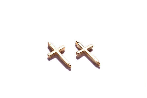 Gold cross - gold cross pendant - for necklace and bracelet jewelry designs.