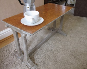 SALE - Coffee Time. Retro vintage up cycled small coffee table / side table