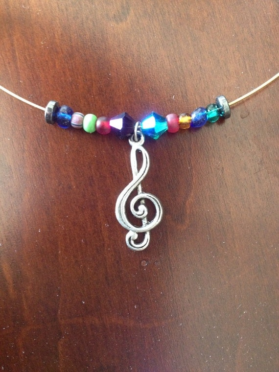 music music guitar string necklace with music by dawnsdesigns2. Black Bedroom Furniture Sets. Home Design Ideas