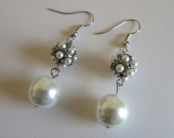 Pearl Cluster Earrings