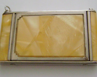 Vintage Girey Camera Compact 1940's Powder Rouge Mirror Triple Compact Summer Wedding Day Gift