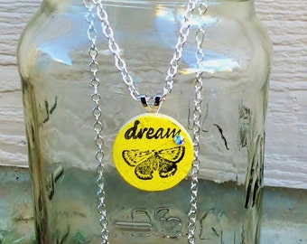 Upcycle Butterfly Wine Cork  Pendant Necklace