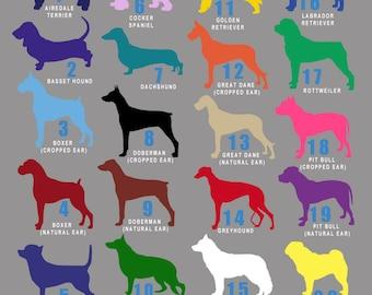 Custom Dog Silhouette Decal - Single Color