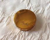 Vintage Revlon Gold Makeup Mini Tin Compact
