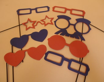 Red / Blue glasses photo booth props- 12