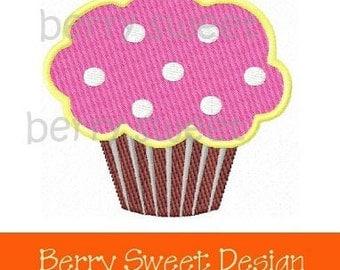 sweet cupcake machine embroidery design