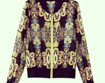 Vintage inspired floral jacket