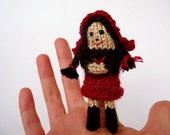 Little Red Riding Hood knit doll, Fairy Tale & Fantasy Finger Puppet