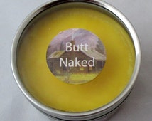 Butt Naked Candle, soy candle, candle tin, 4 oz candle, travel candle tin, scented soy candle, tin candle, container candle, handmade candle