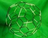 """C60 Bucky Ball (""""soccer ball"""") chemistry model buckyball, nanotube, buckminsterfullerene, geodesic - Free shipping"""