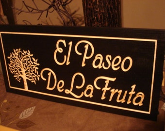 Black Personalized Carved Wooden Last Name Address Sign Anniversary Wedding Gift Wood Wall Art Unique Mothers Day ideas Benchmark Signs