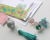 Spring blossom embroidery ribbon bookmark