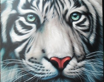 "White Tiger painting oil painting on canvas 40""X40"""