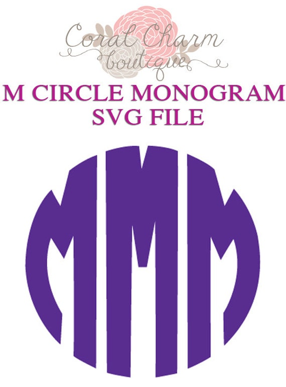 letter circle monogram by craftylittlenodes items similar to letter quot m quot circle monogram svg file on etsy 4