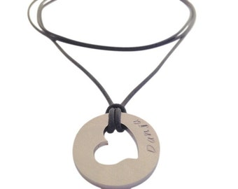 A warm chain name necklace stainless steel heart l