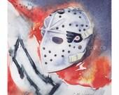 Bernie Parent, Philidelphia Flyers Goalie Mask - Original Art