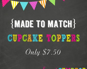 Cupcake Topper Add On - Printable