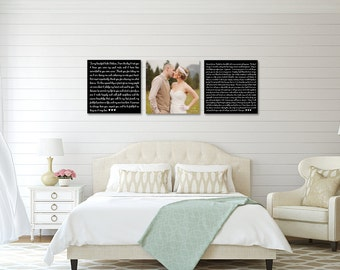 Wedding Vow Art, Premium Canvas