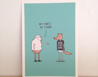 Wolf In Sheep's Clothing - Art Print (A4)