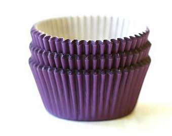 Solid Purple Cupcake Liners