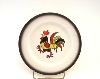 Metlox Red Rooster Salad Plate