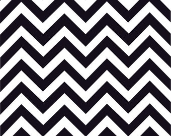 Black chevron craft  vinyl sheet - HTV or Adhesive Vinyl -  black and white large zig zag pattern   HTV111
