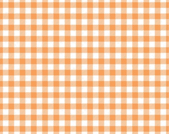 Peach Gingham  craft  vinyl sheet - HTV or Adhesive Vinyl -  peach and white pattern vinyl   HTV219