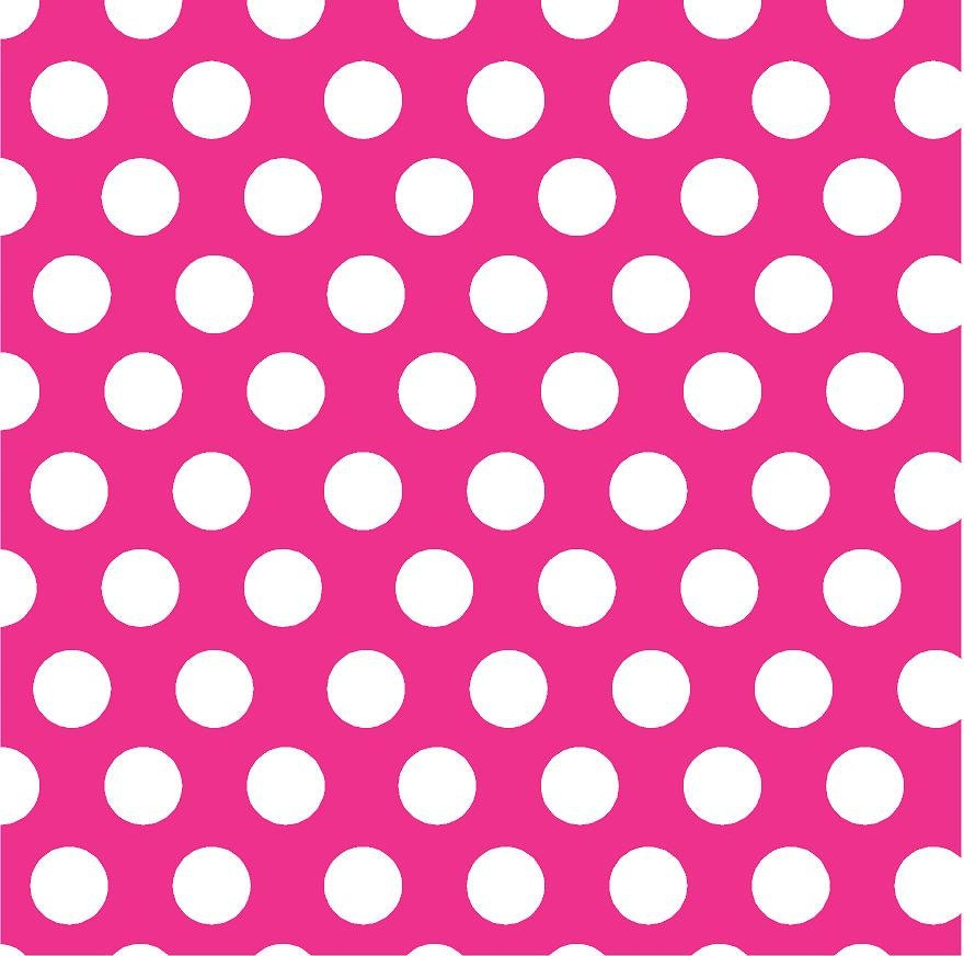 Pink Polka Dot Patterns Magenta with wh...