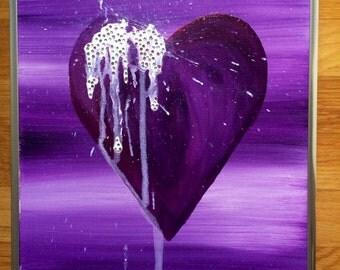 Swarovski Heart Series - Purple